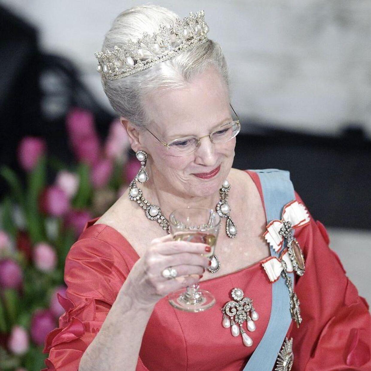 Dronning Margrethe på Christiansborg i anledning af sin 70-års fødselsdag i 2010.