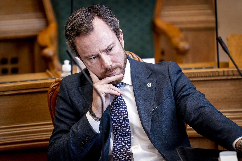 Venstres formand Jakob Ellemann-Jensen under møde i salen med statsministerens spørgetime i Folketinget på Christiansborg, tirsdag den 2. marts 2021.