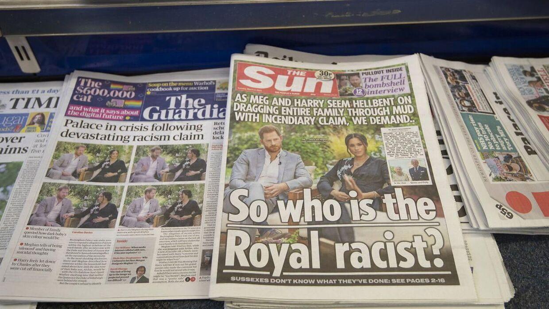 Harry og Meghan har trukket forsider i den britiske presse hele ugen.