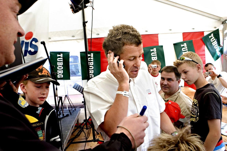 Tom Kristensen besøger den danske K-camp forud for Le Mans.