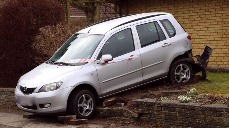 Den forulykkede bil.