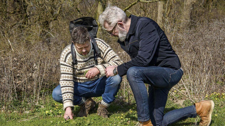 Thomas Laursen ses her i selskab med Søren Frank i Dyrehaven, hvor de sanker.