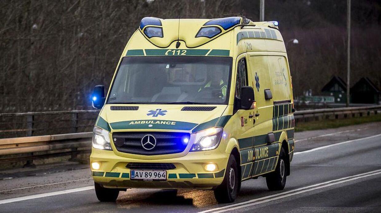 Arkivfoto af ambulance. Billedet stammer fra Ringsted.