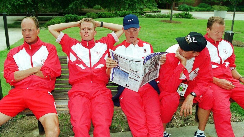 Den gyldne 1990er-generation under OL i Atlanta i 1996. Fra venstre: Bjarne Riis, Rolf Sørensen, Brian Holm, Jesper Skibby og Lars Michaelsen.
