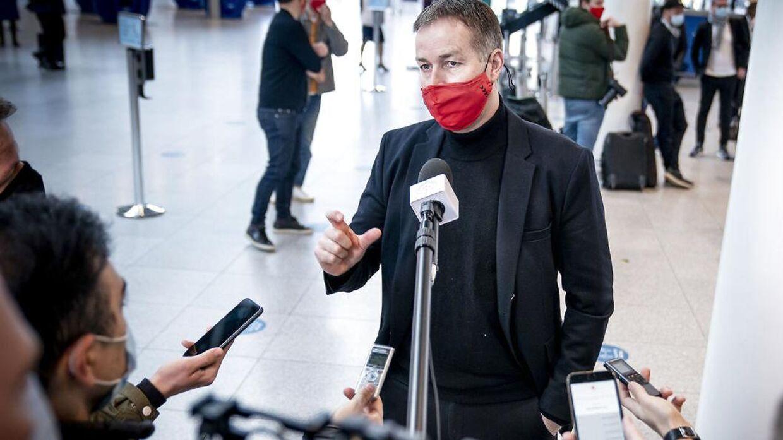 Kasper Hjulmand mødte pressen mandag.