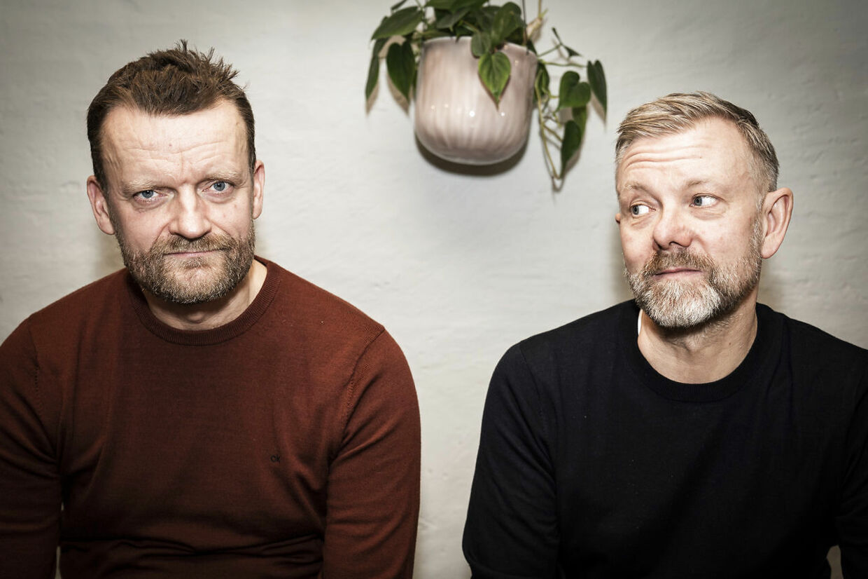 Ritzau-interview med Casper Christensen og Frank Hvam, onsdag 8. januar 2020. De er aktuelle med filmen 'Klovn the Final', som har gallapremiere 29. januar 2020. (Foto: Niels Christian Vilmann/Ritzau Scanpix)