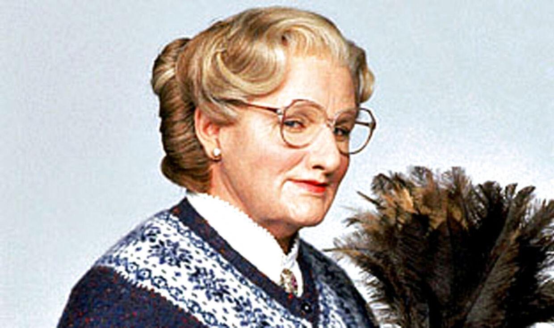 Robin Williams som Mrs. Doubtfire. Pr.