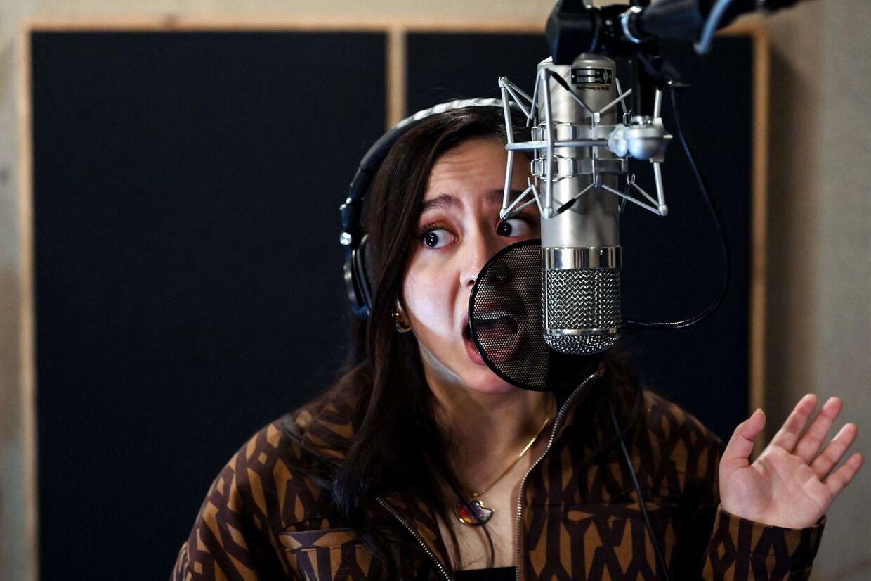 Manizha skal repræsenterer Rusland ved Eurovision Song Contest 2021 i Rotterdam. Foto by Kirill KUDRYAVTSEV / AFP
