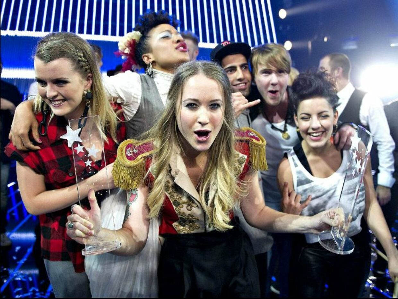 Så glade var de, da de i 2012 blev udråbt til vindere af Dansk Melodi Grand Prix.