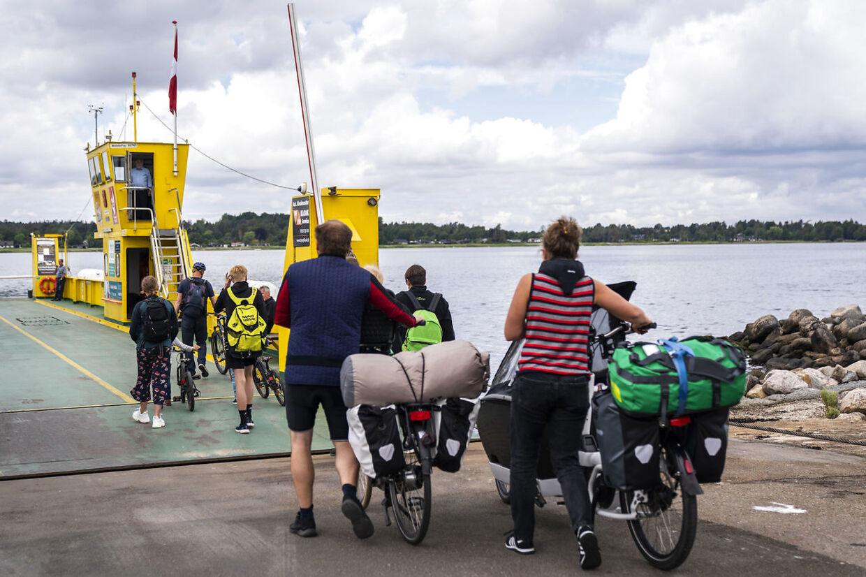 Sommerpakken 2020 bød blandt andet på gratis færgerejser for gående og cyklister.