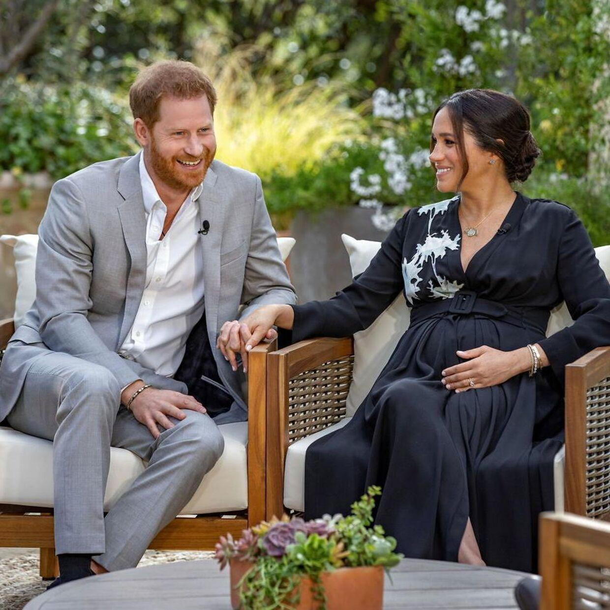 Prins Harry og hertuginde Meghan under Oprah-interview.