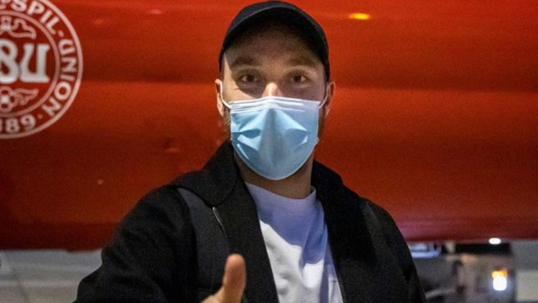 Christian Eriksen blev hentet i Milano.