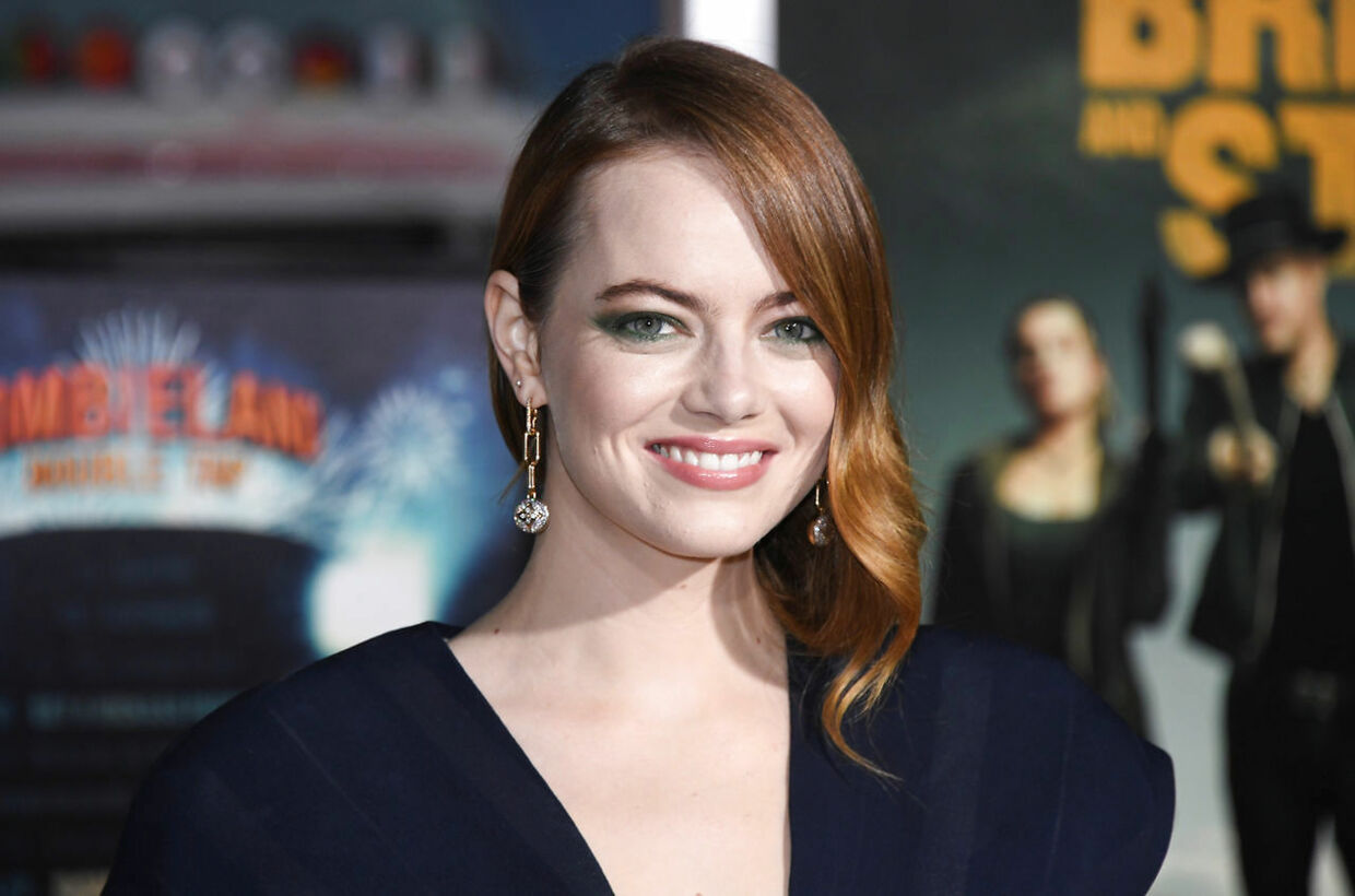 """Cast member Emma Stone attends the premiere of """"Zombieland: Double Tap"""" in Los Angeles, California, U.S. October 10, 2019. REUTERS/Phil McCarten"""