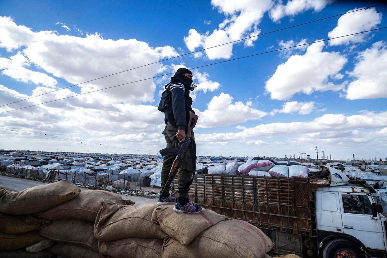 Her ses den syriske al-Hol-lejren, der huser danske børn.