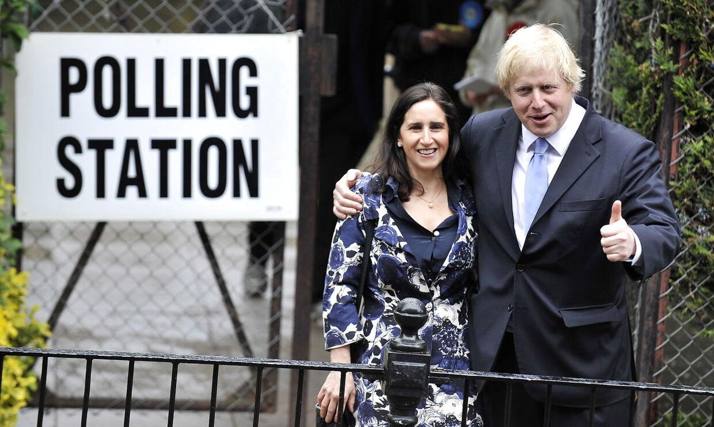 Boris Johnson med hustruen Marina Wheeler, som han var gift med under forholdet til Jennifer Arcuri.