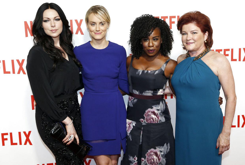 Skuespillerne fra Netflix-serien 'Orange is the New Black'. Som scenograf arbejdede Evelyn Sakash blandt andet på den tv-serie. Foto FRANCOIS GUILLOT. FRANCOIS GUILLOT / AFP.
