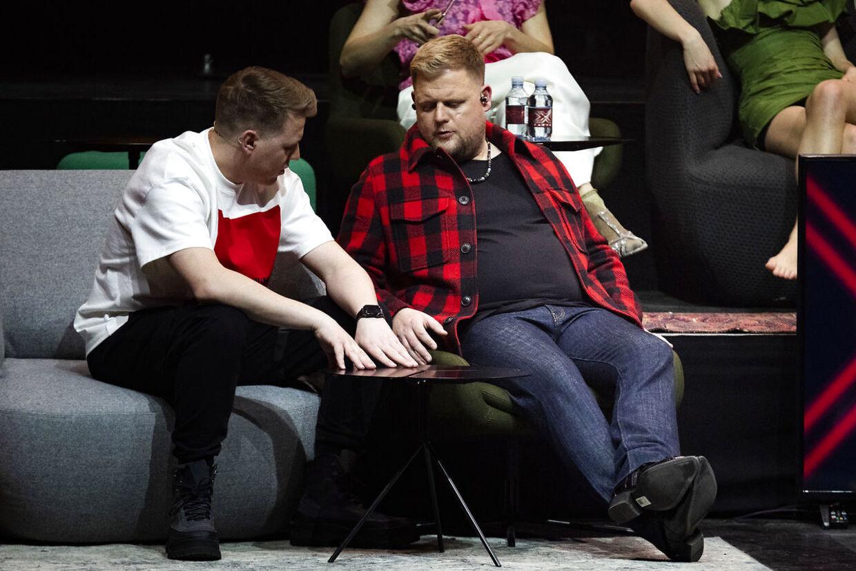 Martin Jensen og Dan Laursen efter årets semifinale.