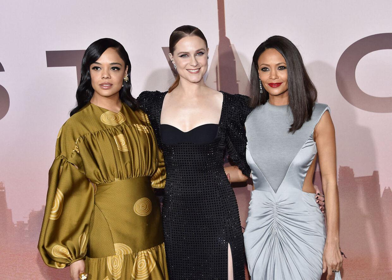 'Westworld'-skuespillerne Tessa Thompson, Evan Rachel Wood og Thandie Newton, som nu vil kaldes ved sit rigtige nav, Thandiwe Newton.
