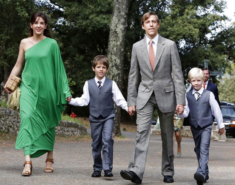 Prins Louis, ekshustruen og sønnerne fotograferet i 2014.