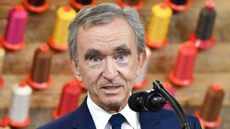 Franske Bernard Arnault og hans familie er verdens tredjerigeste.