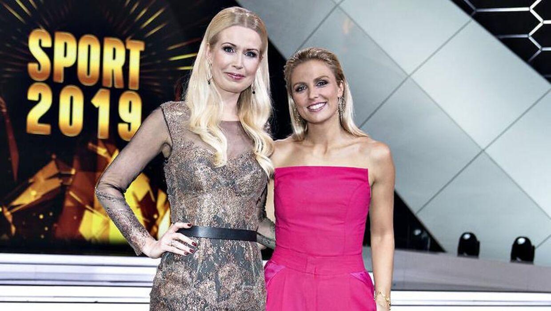 Tina Müller (tv.) og Josefine Høgh har de sidste par år været værter på DR's sportsgalla.