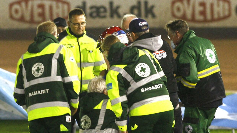 Nicki Pedersen kom galt af sted i den danske liga den 30. september 2020. (Foto: sportxpress/Ritzau Scanpix)