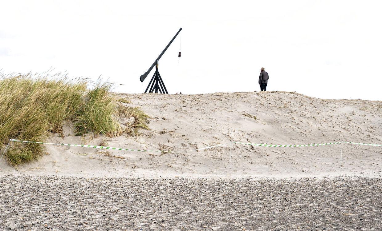 De udjævnede klitter ved Skagen Sønderstrand ligger umiddelbart ved det kendte gamle vippefyr i den nordligste del af Skagen by.