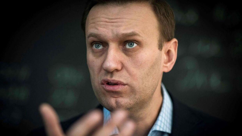 Den russiske oppositionspolitiker Aleksej Navalnyj afsoner en dom på to og et halvt år fængsel i et russisk fængsel.