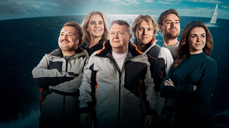 'Over Atlanten' 2021: Umut Sakarya, Sarah Bro, Lars Løkke Rasmussen, Felix Smith, Johannes Nymark og Ditte Julie Jensen.