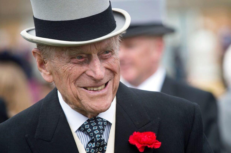 Prins Philip i 2017 til en havefest ved Buckingham Palace. Kort efter trådte han tilbage fra sit royale embede.