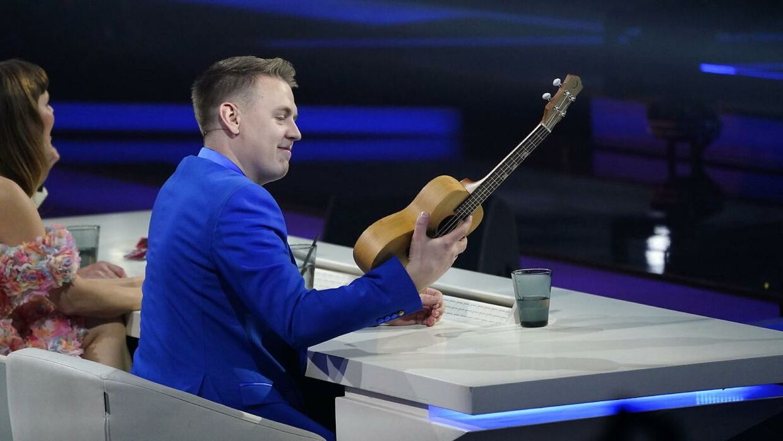 Martin Jensen fik sin ukulele.
