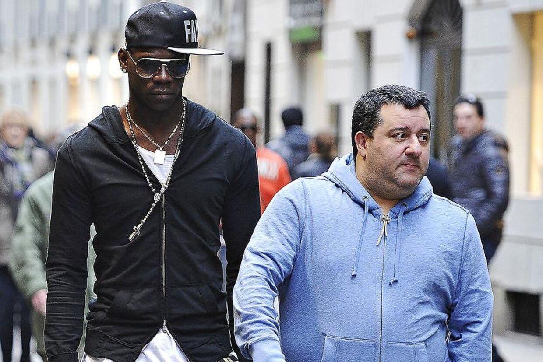 Agent Mino Raiola og Mario Balotelli.
