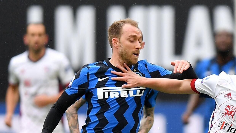 Christian Eriksen var igen med fra start for Inter søndag.