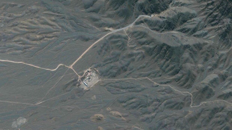 Iran's Natanz atomanlæg set fra oven.
