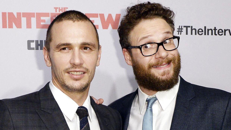 James Franco (v) og Seth Rogen (h).