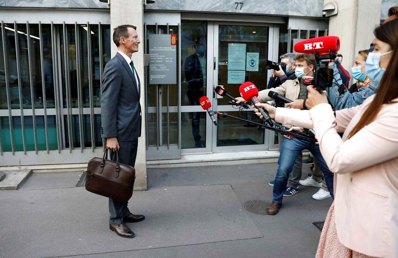 Første dag på sit nye job forsikrede prins Joachim, at han havde det godt og glædede sig til at komme i gang som forsvarsattaché på Danmarks ambassade i Paris. Foto: THOMAS COEX/Ritzau Scanpix.