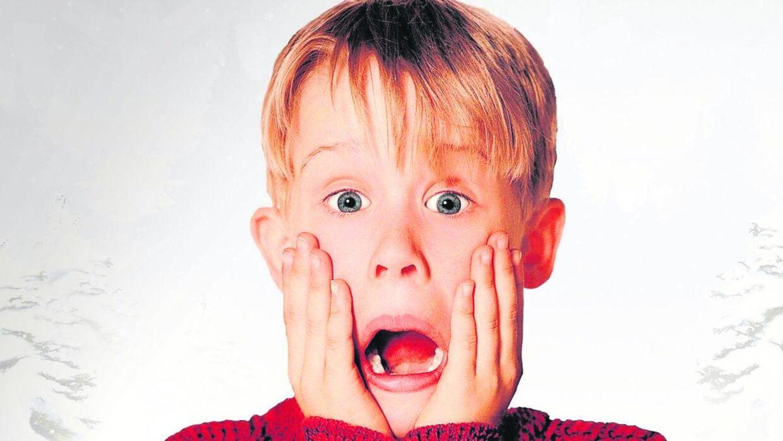 Macaulay Culcin som Kevin i 'Alene hjemme' fra 1990.