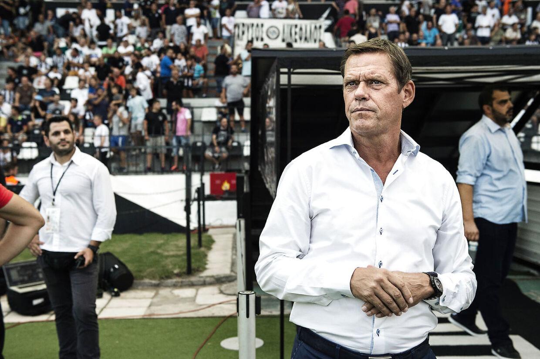 Sportsdirektør Frank Arnesen, Paok FC. Brøndby IF mod Paok FC Thessonaliki på Toumba Stadium