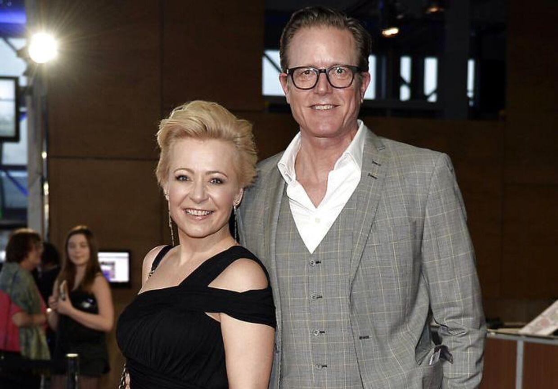 Peter Mygind og hans kone Lise Mühlhausen på den røde løber tilbage i 2017.
