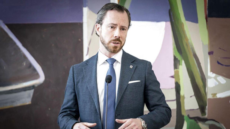 Jakob Ellemann-Jensen (V) efter møde i Folketingssalen.