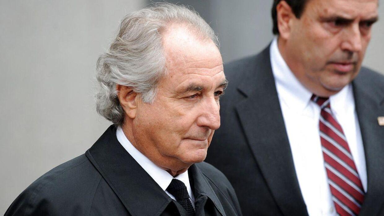Bernie Madoff i forbindelse med retssagen i 2009.