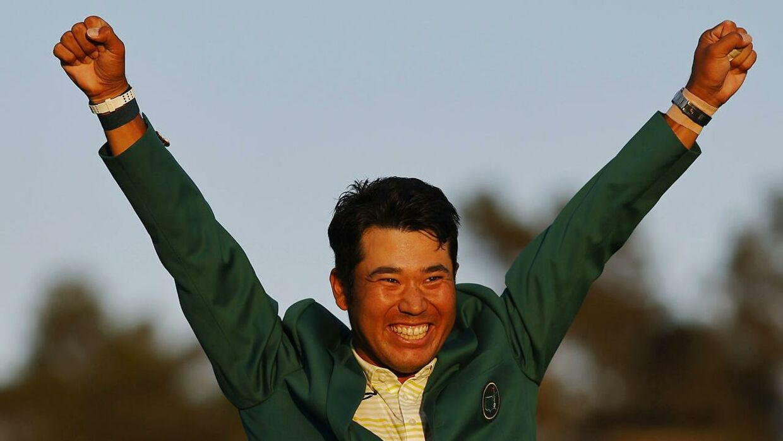 Hideki Matsuyama jubler over sin historiske Masters-sejr.