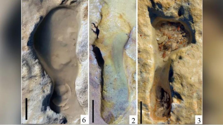 De fossile fodspor blev opdaget på en strand i det sydlige Spanien i juni sidste år. De vurderes til at være mere end 100.000 år gamle og er muligvis de ældste, man nogensinde har set i Europa.