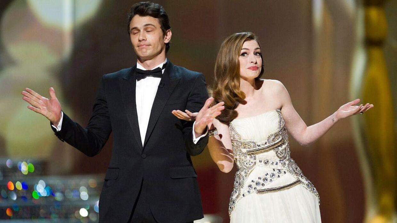 James Franco og Anne Hathaway som Oscar-værter i 2011.