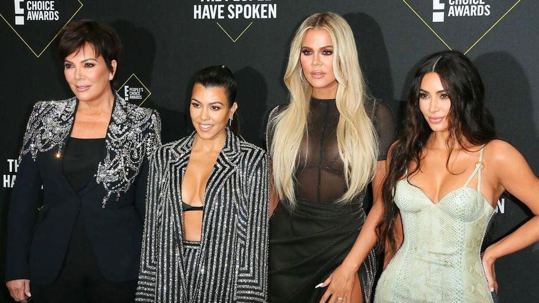 Kardashian-familien ses her i 2019. Fra venstre er det: Kris Jenner, Kourtney Kardashian, Khloé Kardashian og Kim Kardashian.