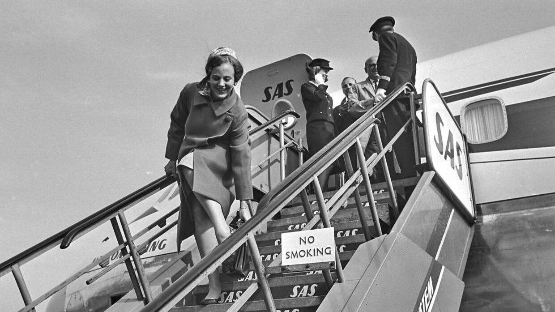 Kronprinsesse Margrethe vendte i 1966 hjem fra Sydamerika. Måske var det på den tur, at hun fik prøvet at surfe?