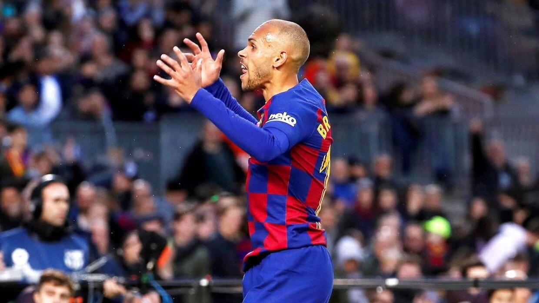 Martin Braithwaite spiller i dag for FC Barcelona.