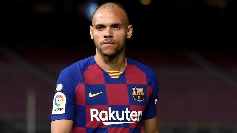 Martin Braihtwaite har spillet i FC Barcelona siden februar 2020.