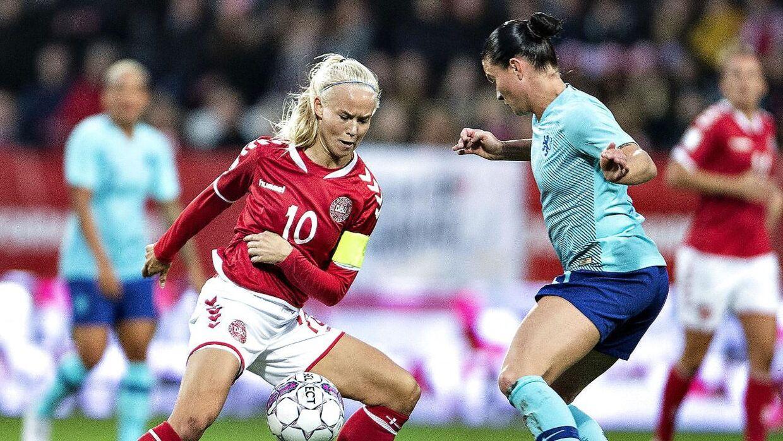 Danmarks Pernille Harder tilslutter sig kampen mod mobning. (Foto: Henning Bagger/Ritzau Scanpix)