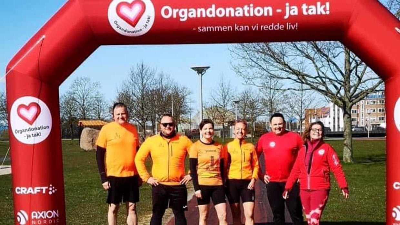 Stine Madsen løb for organdonation - ja tak! Foto: Privat